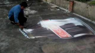 3D PAINTING 3d side walk chalk drawing  SIDE WALK DRAWINGS PAVEMENT ART -00919249377268 (INDIA)