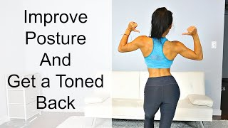 BURN BACK FAT & Improve Posture | Back Exercises for Women