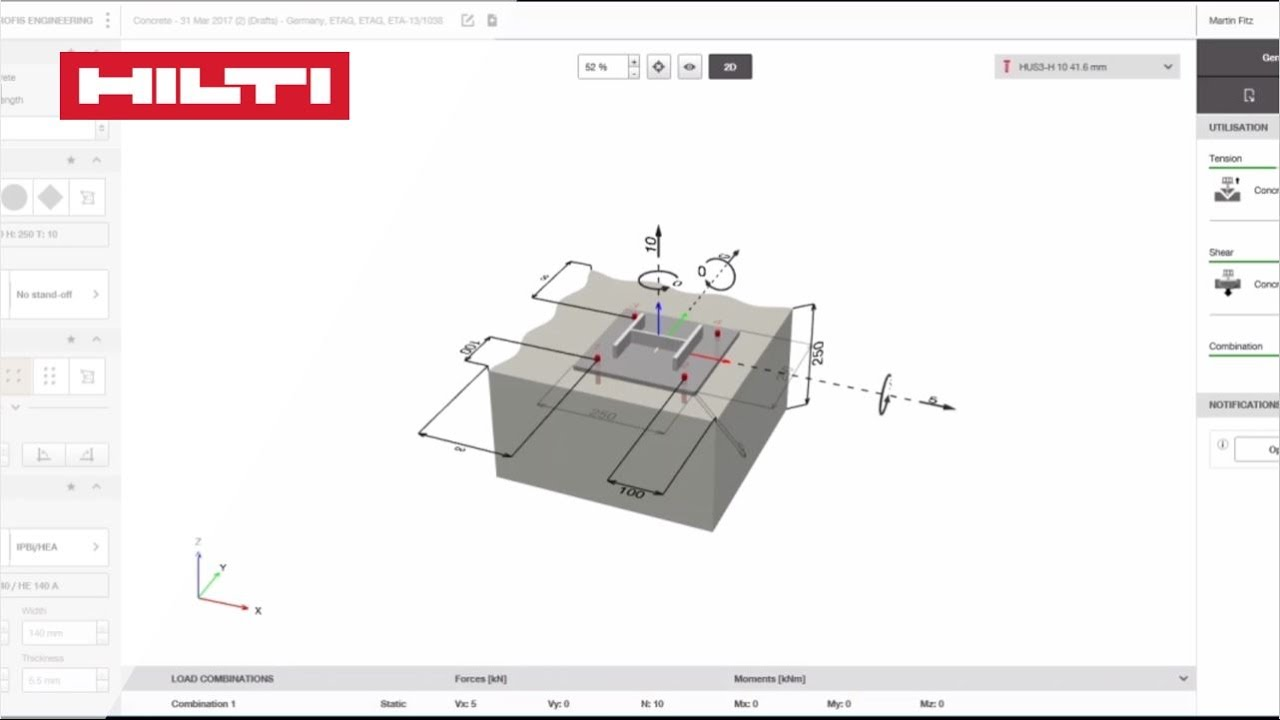 hilti anchor bolt software free download