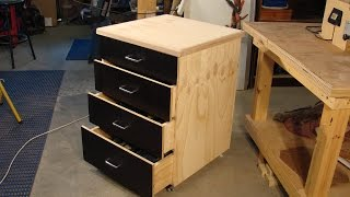 60  Simple Dado & Plywood Rolling Shop Cabinet 1