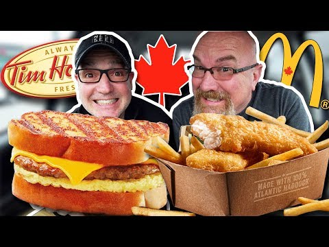 McDonald's Fish & Chips 🐟🍟 AND Tim Hortons French Toast Breakfast Sandwich 🍳🍞