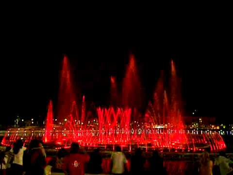 Musical Fountain in Perdana Park, Tanjung Aru, Kota Kinabalu, Sabah, Malaysia - Dzulcarnaen