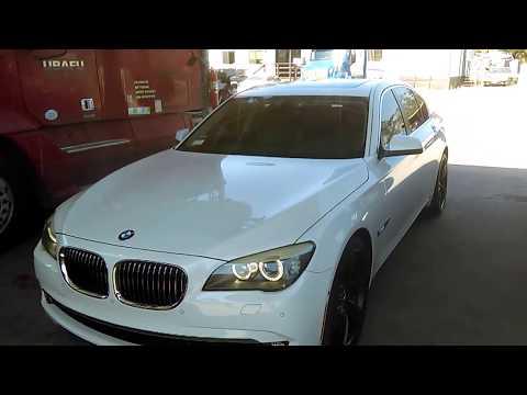 How to check the oil level 2009-2012 BMW 740i 740Li 750i 750Li 760i 760Li F01 F02