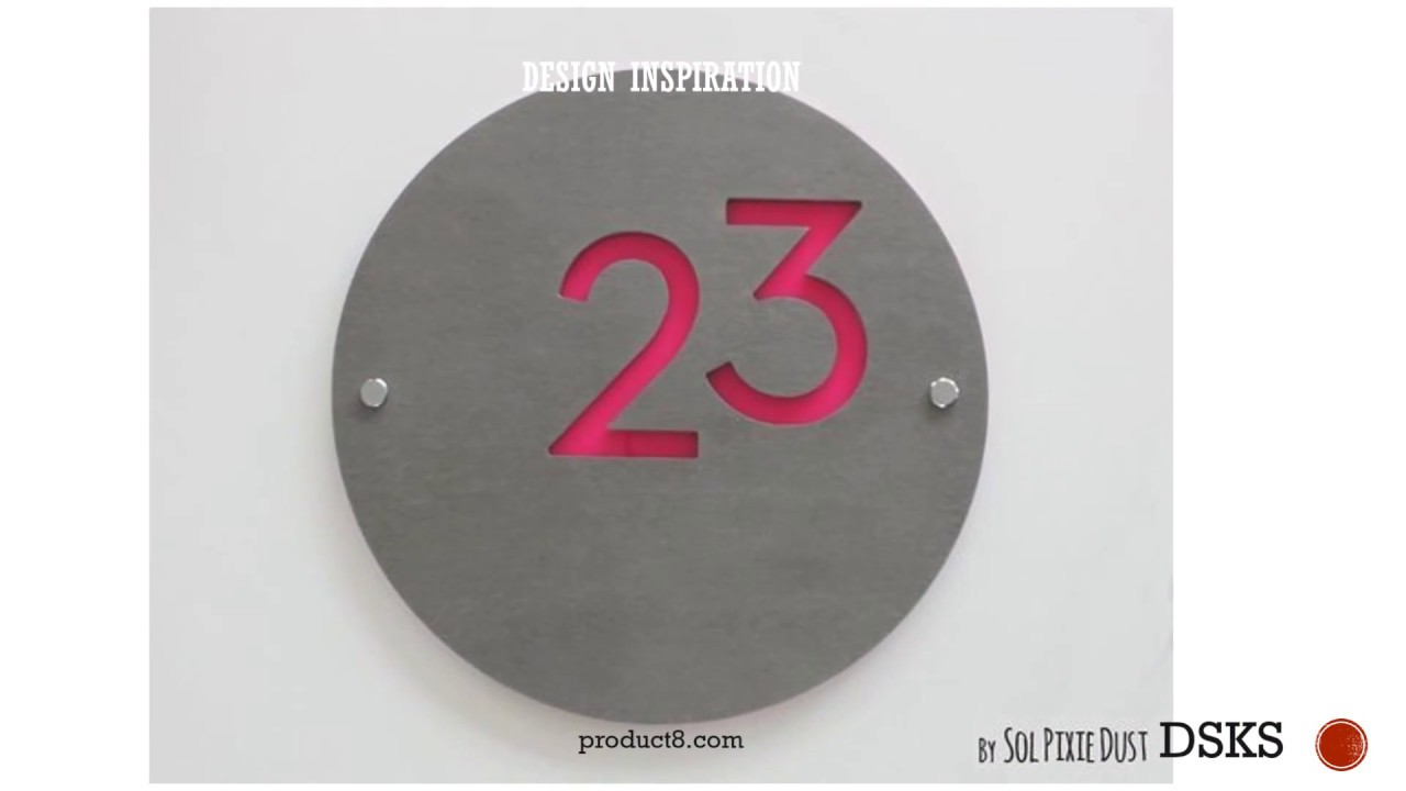 House Numbers Design Ideas - 25 Selected House Numbers Design