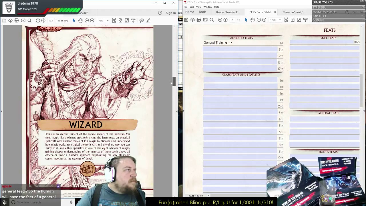 Pathfinder 2e Playtest Character Creation: Human Wizard Part 1