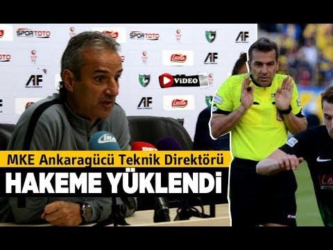 MKE Ankaragücü Teknik Direktörü İsmail Kartal Hakeme Yüklendi