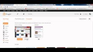 How to Add/Edit HTML code in Blogger 2013