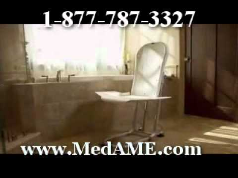 Handicapped Elevated Toilet Seat with Arms - YouTube