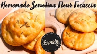 Homemade Rosemary Focaccia with Semolina Flour [Quick and Easy Bread Recipe]