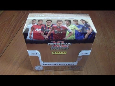 UNBOXING BOOSTER BOX (NORDIC EDITION) panini ADRENALYN XL CHAMPIONS LEAGUE 2013-14 Trading Cards