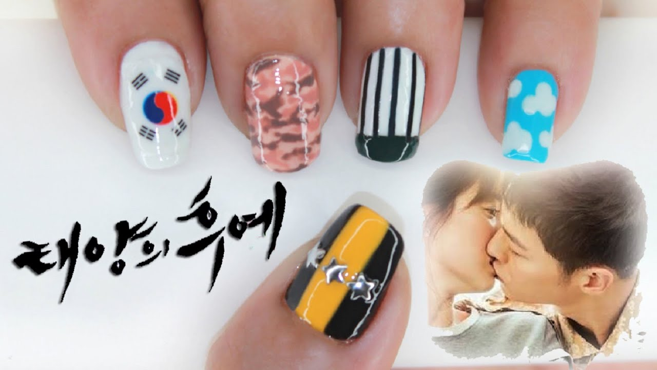 Descendants Of The Sun Nail Art Youtube