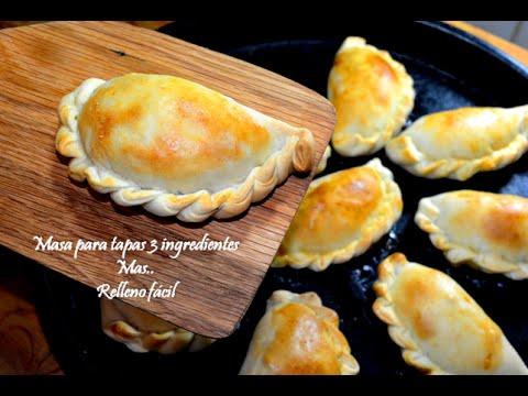 Empanadas masa fácil 3 ingredientes y relleno en minutos