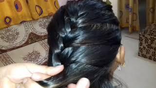 Sager choti hair style step by step