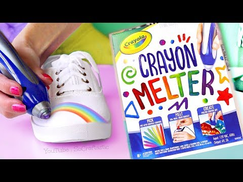 Testing CRAYOLA CRAYON MELTER + Custom Canvas Shoes with Crayons!