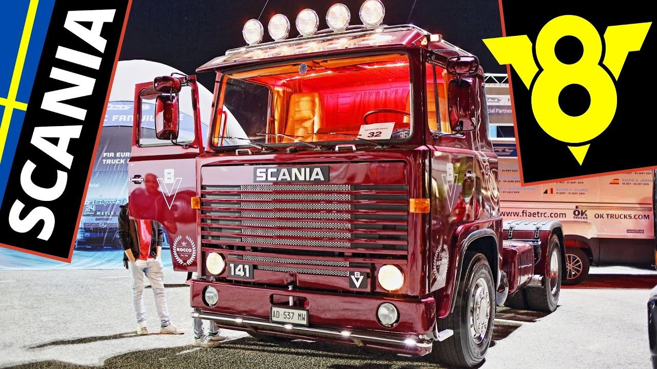 V8 Scania Trucks/Camion Old School - Exhaust Sound, Open Pipes & Smoke! - 143M, 142H, 141 series