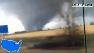 Tornadoes slam Midwest US: Tornado tearing through Minooka in Illinois [INCREDIBLE] 11/17/2013