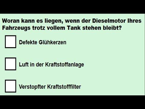 Theoriefragen zum Motor Teil 3 (Fahrschule, Führerschein, Klasse B) #1239