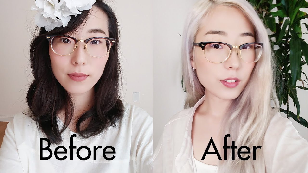 How To Diy Icy White Platinum Blonde Hair From Asian Black Hair