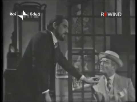 """Vittorio Gassman in """"L'uomo dal fiore in bocca"""" di Piradello - YouTube"""