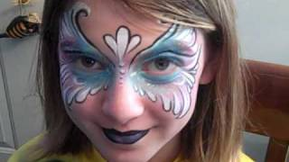 Oddzin Ends Gorgeous Face Painting Mask | Happy Halloween Face Painting | Michigan Face Painters