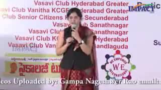 must watch and extraordinary speech by Smt Padma pothukuchi