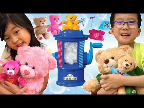 くまちゃん の ミニくま作り💛 おうちでビルドアベア! 海外 おもちゃ Build a Bear At Home