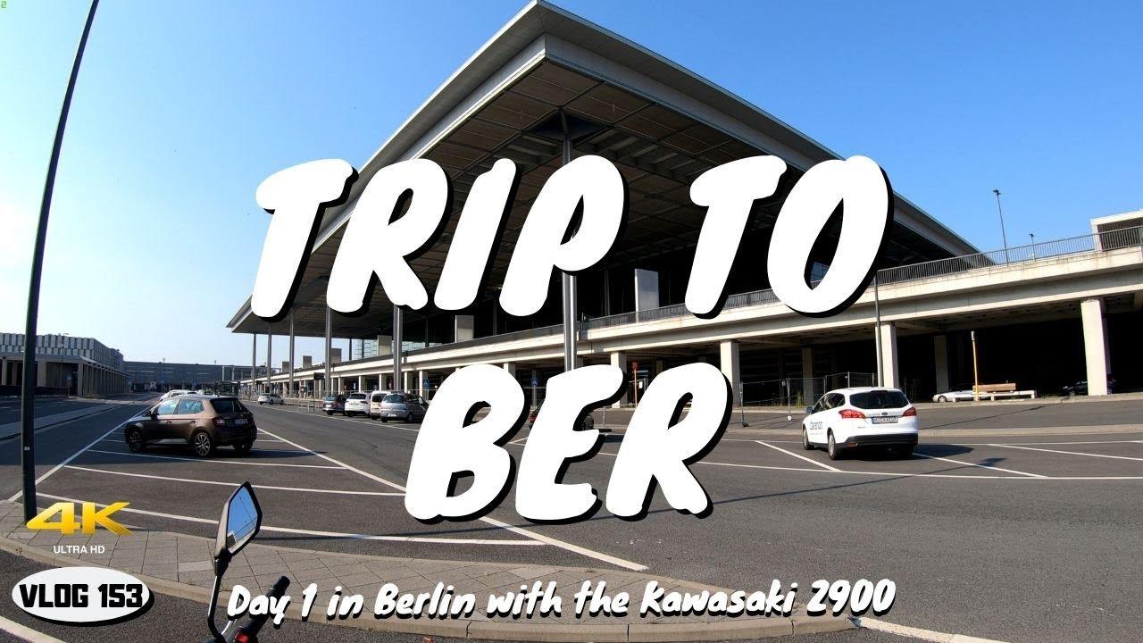 Kawasaki Z900 (2019) - Trip to the new Berlin airport BER - VLOG 153 [4K]