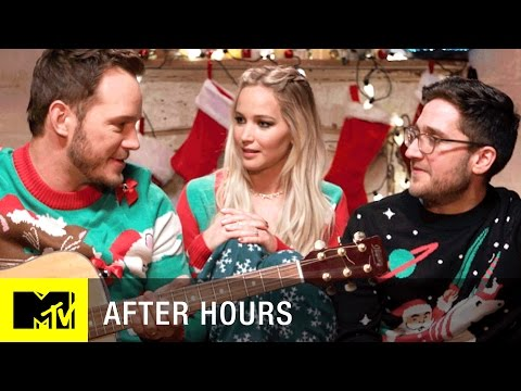 Jennifer Lawrence & Chris Pratt Have A Christmas Sleepover | After Hours