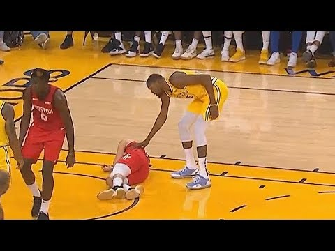 Kevin Durant Checks On Austin Rivers' Injury With Jordan Bell While Everyone Else Ignores Him!