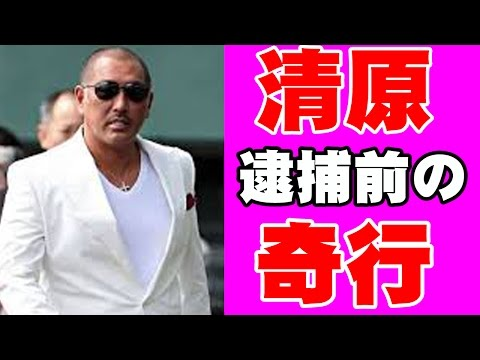 【奇行】清原 逮捕前の奇行