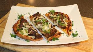 Steak & Mushroom Flatbread Pizza