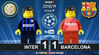 Inter vs Barcelona 1-1 • Champions League 2019 (06/11/2018) All Goals Highlights Lego Football