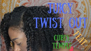 Juicy Twist Out (feat. Curly Temple) l TotalDivaRea