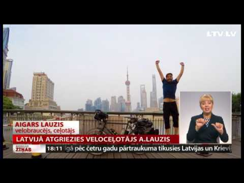 Latvijā atgriezies veloceļotājs A.Lauzis