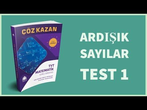 Çöz Kazan TYT Matematik Soru Bankası Ardışık Sayılar Test  1