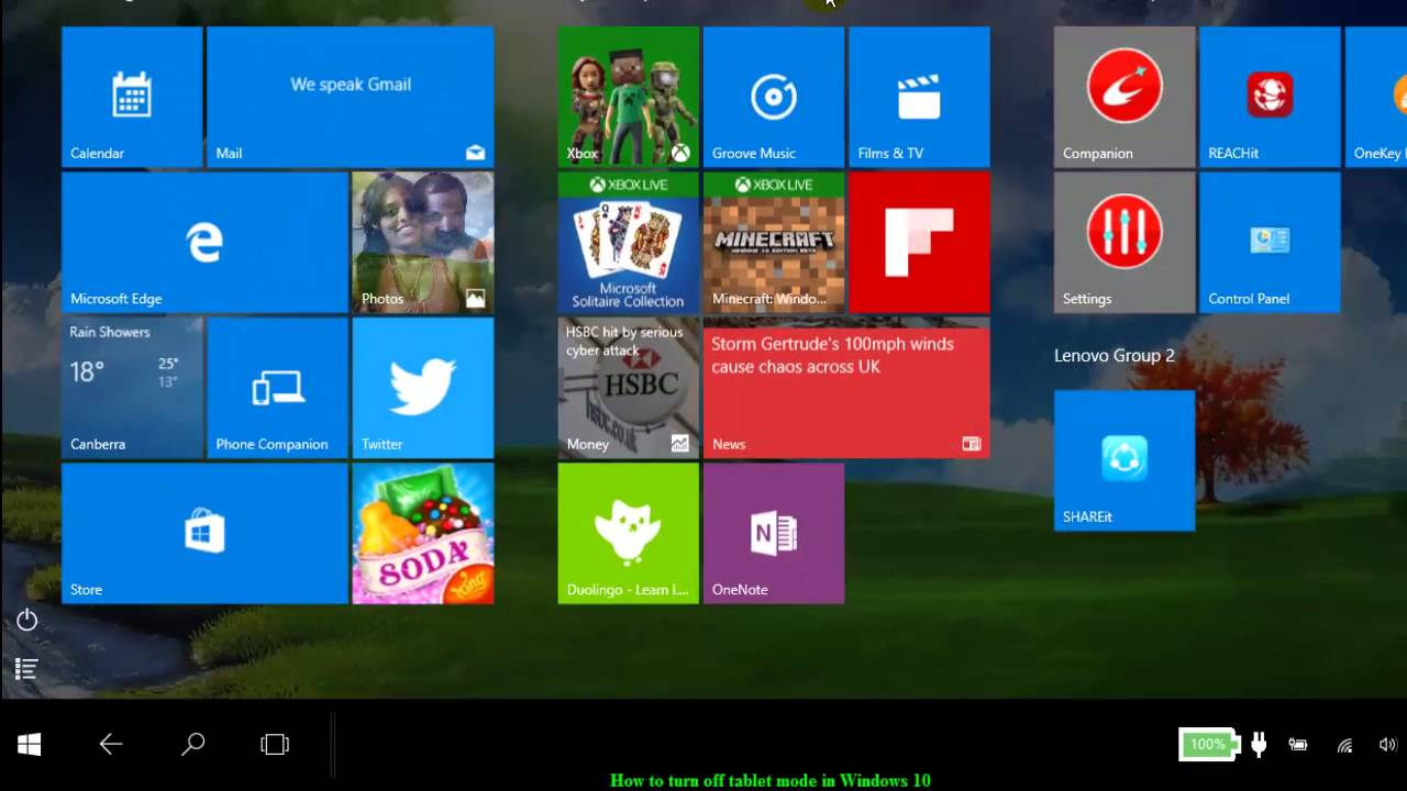 Touch Screen Settings Turn Off Windows 10 - How to turn off tablet mode in windows 10