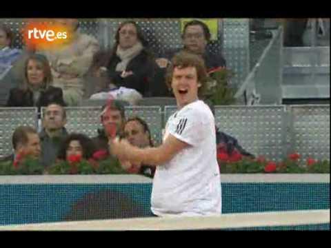 Federer vs Gulbis - Momentos - Madrid 2010