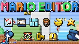 Zapętlaj All Power Ups, Items & Mounts in MARIO EDITOR | bossedit8