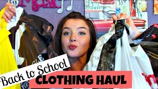 HUGE BACK TO SCHOOL CLOTHING HAUL 2016 | MustbeMaci