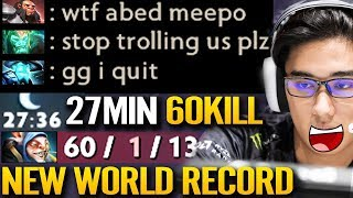 Dota 2 ABED God Meepo 27 Mins - 60 Kills What a Easy game Dota 2