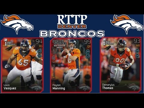 #MUT25 | Denver Broncos Road to the Playoff Cards | Peyton Manning, Demaryius Thomas, & More