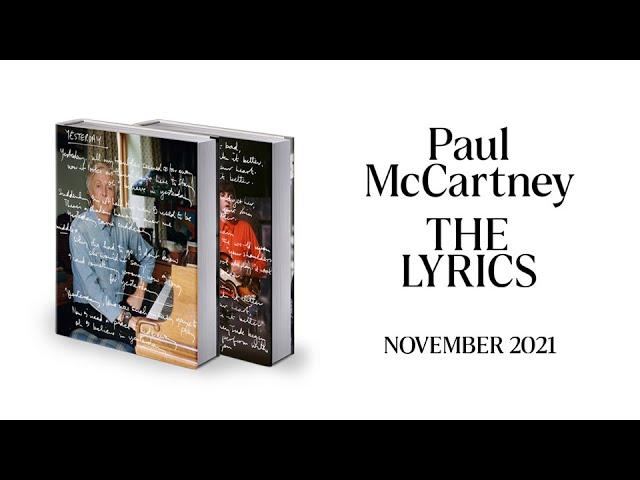 Paul McCartney - The Lyrics (Coming 2nd November)