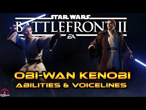 OBI-WAN KENOBI Abilities, Voice lines & Appearances!   Star Wars Battlefront 2 thumbnail