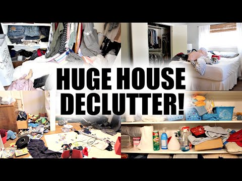 HUGE HOUSE DECLUTTER + ORGANIZATION 2019! DECLUTTER WITH ME!