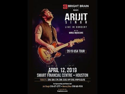 Arijit Singh Live In Concert - Houston, USA 2019 4K