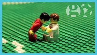 Pepe red card for headbutt on Müller & Germany vs Portugal | World Cup 2014 | Brick-by-brick