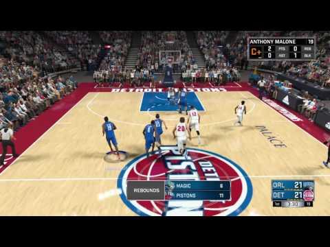 NBA 2K17 MyCareer Mode pt.7-Game 2:Orlando Magics vs Detroit Pistons (Ps4)