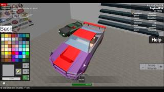how to paint a car in roblox 3