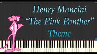 Henry Mancini - The Pink Panther Theme (Piano Tutorial Synthesia)