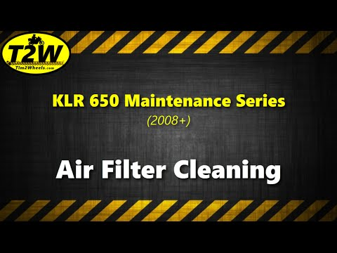 T2W KLR650 Maintenance Series: Air Filter Cleaning
